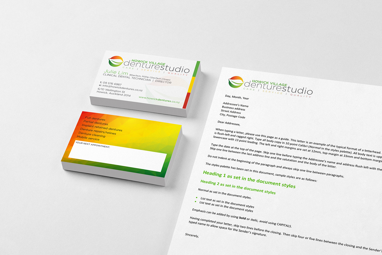 Business card design adelaide