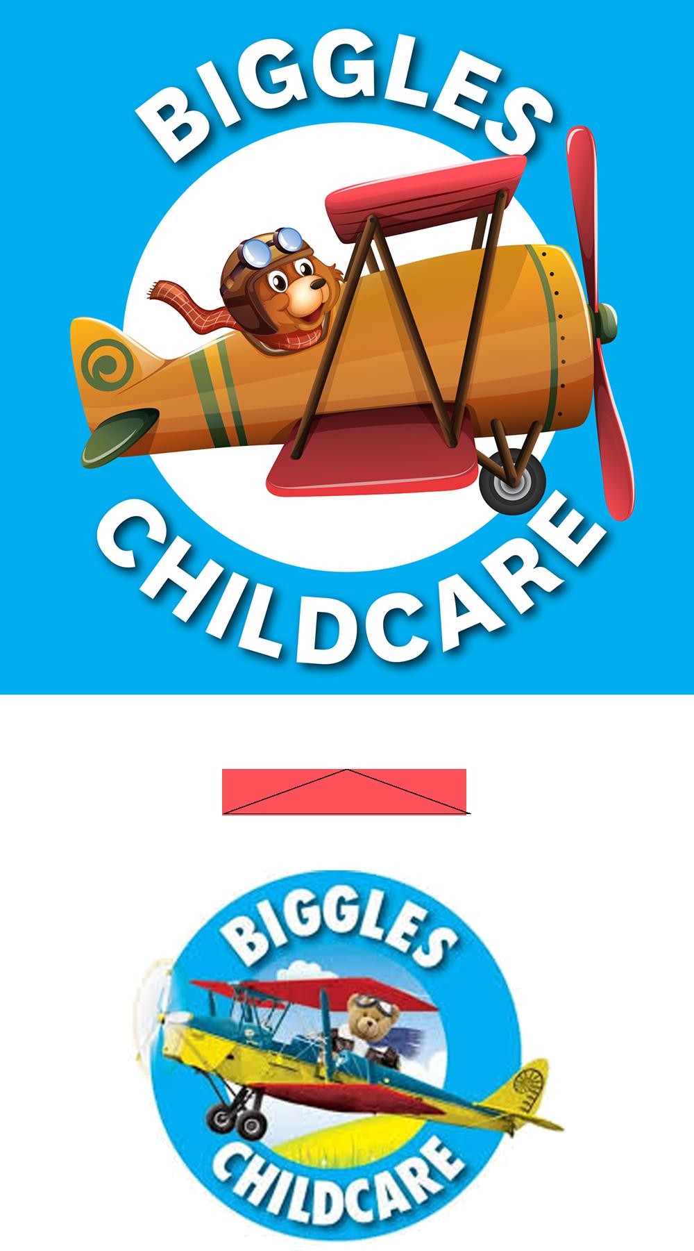 Logo refinement Biggles Childcare